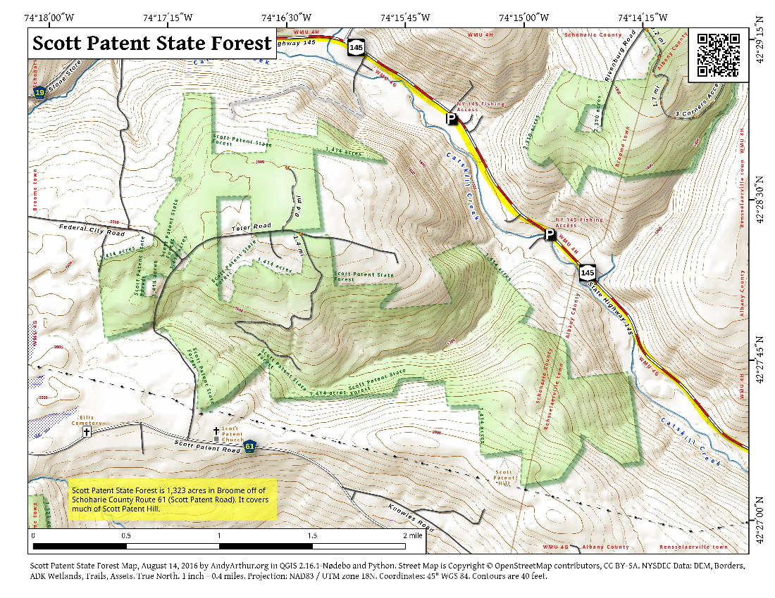 Map: Scott Patent State Forest