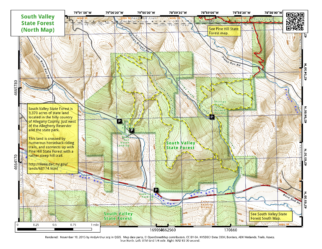 Map: South Valley State Forest North Map