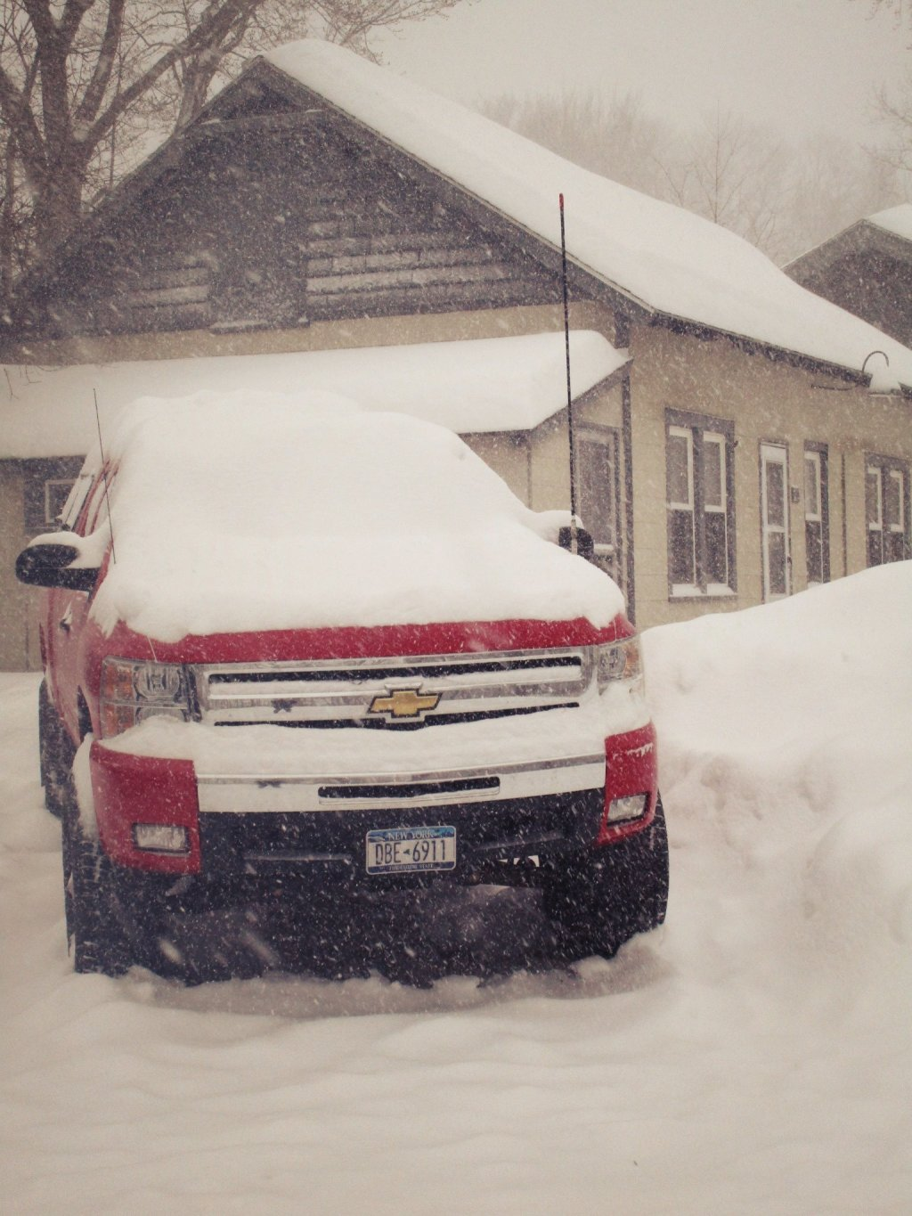 Photo: Keeping Snow Off Big Red A Futile Effort